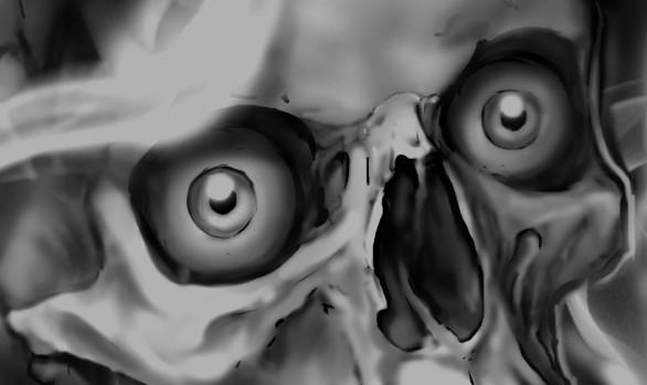 Skulls in smoke